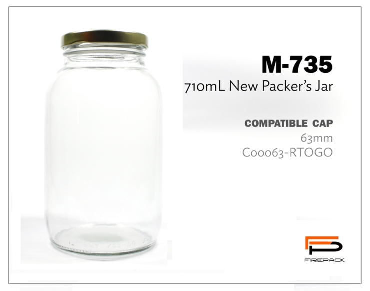new packers jar m735 710ml