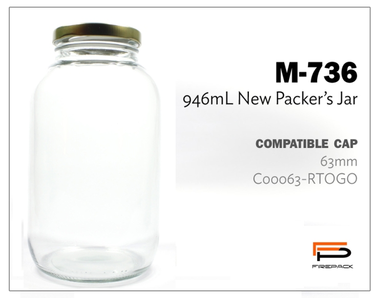 new packers jar m736 946ml