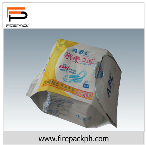 quad seal flat bottom sanitary packaging firepack packaging