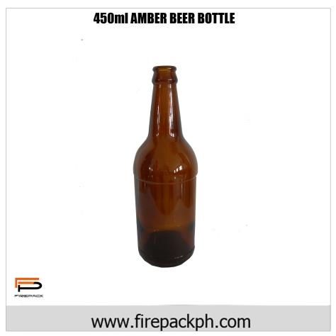 490ml amber beer bottle