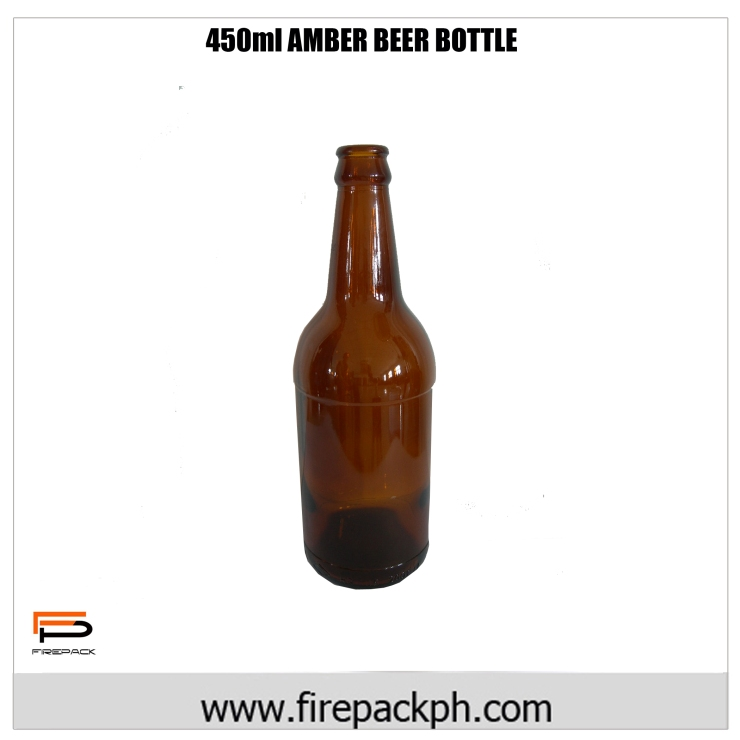 490ml amber beer bottle