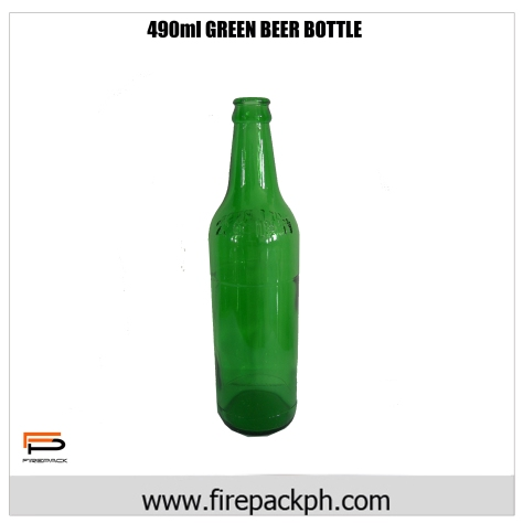 490ml green beer bottl