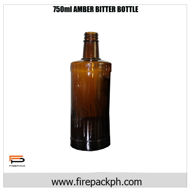 750ml Amber bitter bottle