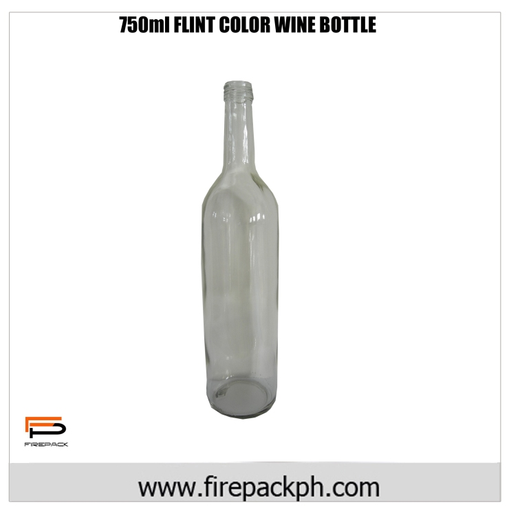 750ml Flint color wine bottle