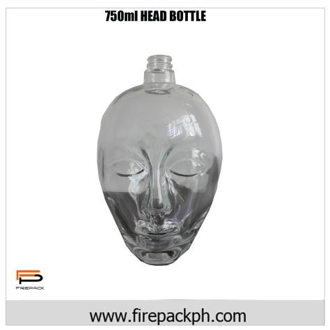 750ml head bottle design