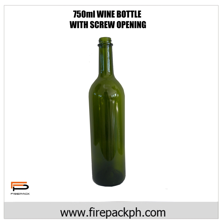 750ml Wine bottle with screw finish