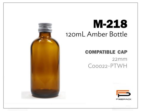 amber bottle M218 120ml
