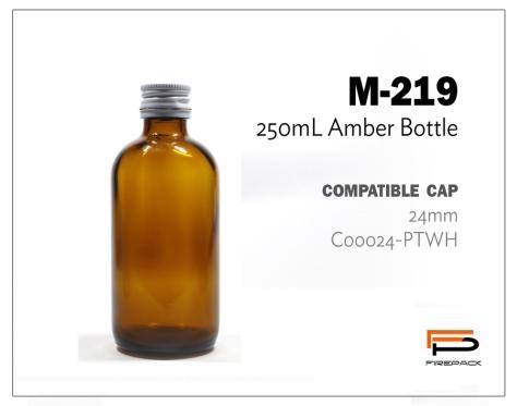 amber bottle M219 250ml