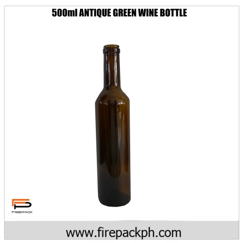 Antique green wine bottle