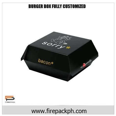 burger box full color carton
