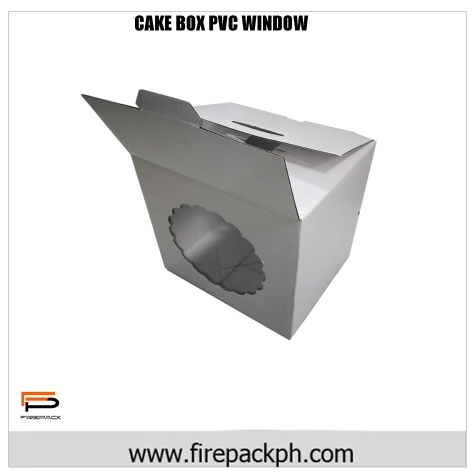 cake box pvc window claycoat