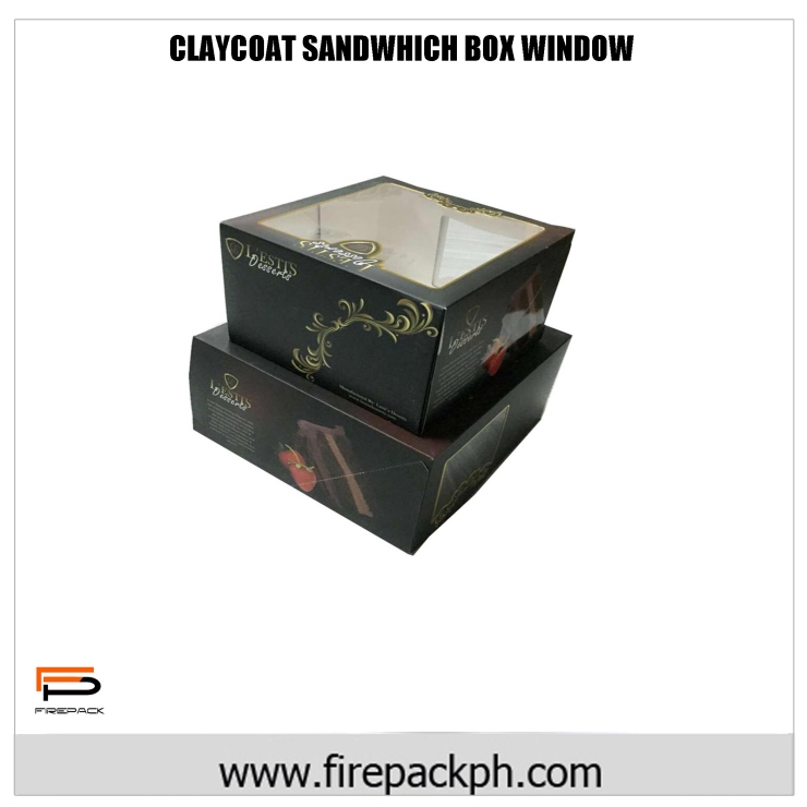 claycoat sandwhich box window box
