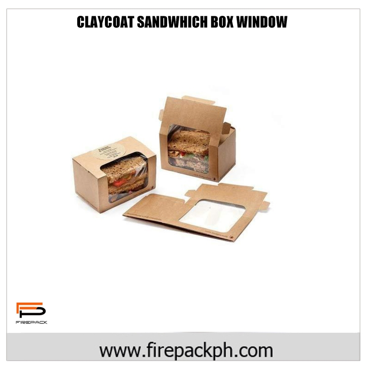 claycoat sandwhich box window
