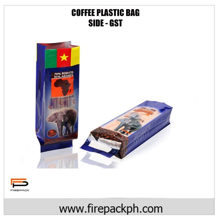 coffe plastic bag laminated