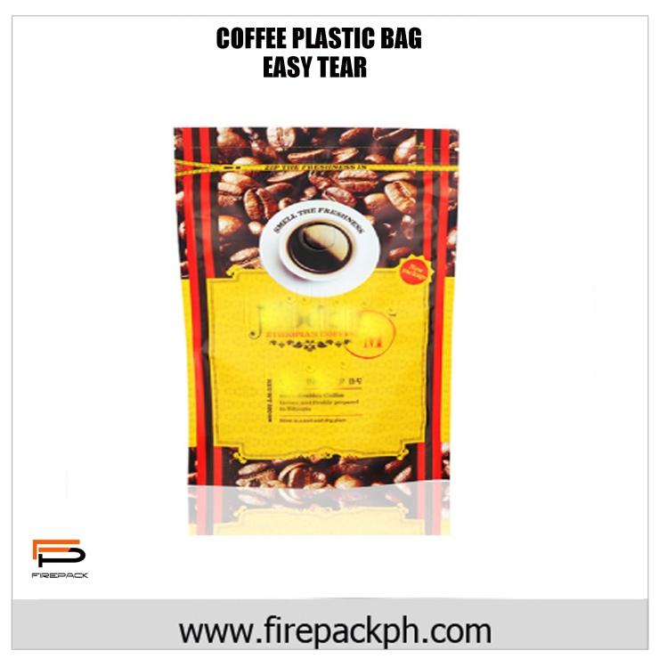 coffee laminated bag easy tear