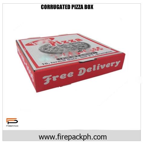 CORRUGATED PIZZA BOX FULL COLOR DESIGN 2