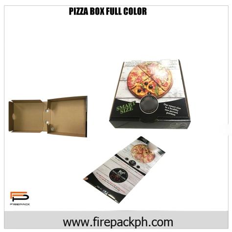 CORRUGATED PIZZA BOX FULL COLOR