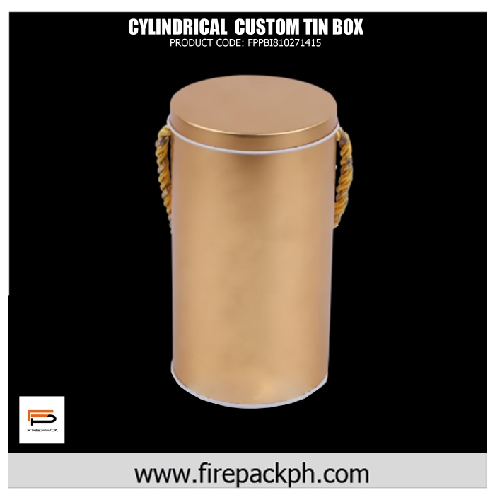 cylindrical tin box custom print