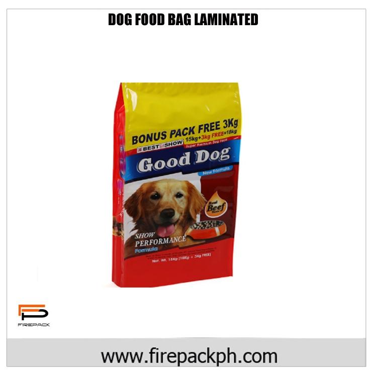 DOG FOOD BAG LAMINATED DESIGN