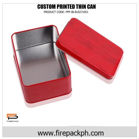 flat tin can box custom printed
