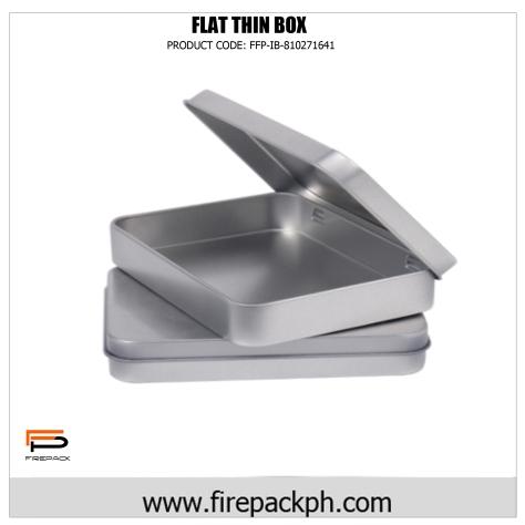 flat tin can box
