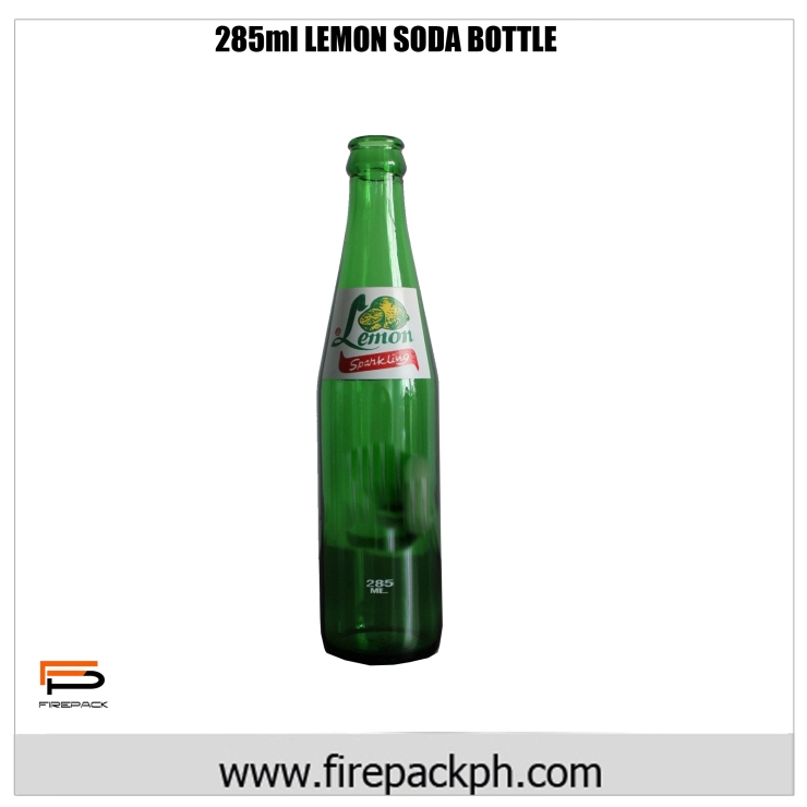 lemon 285ml green bottle