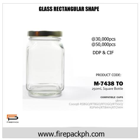 M7438 GLASS JAR GAB