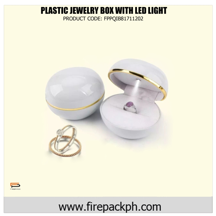 plastic jewelry box with led light