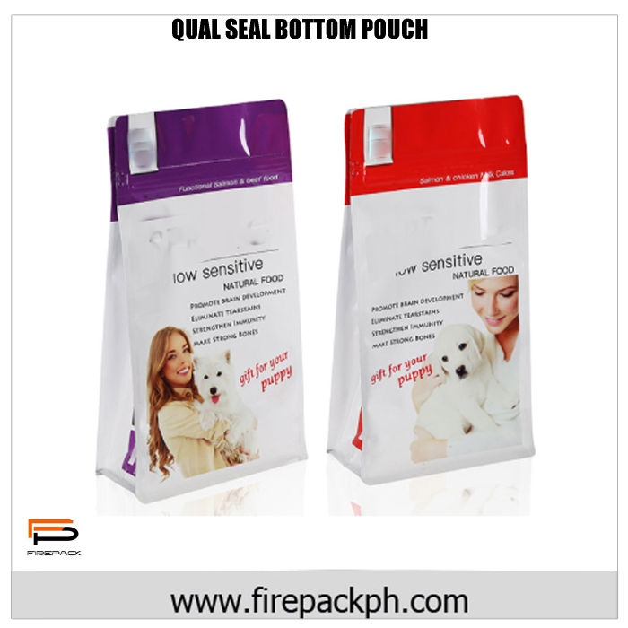 POUCH QUAL SEAL DESIGN WHITE AND VIOLET