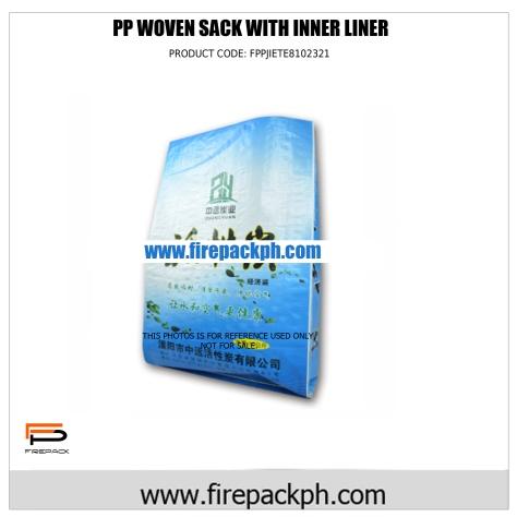 pp woven sack with inner liner sacker ebu
