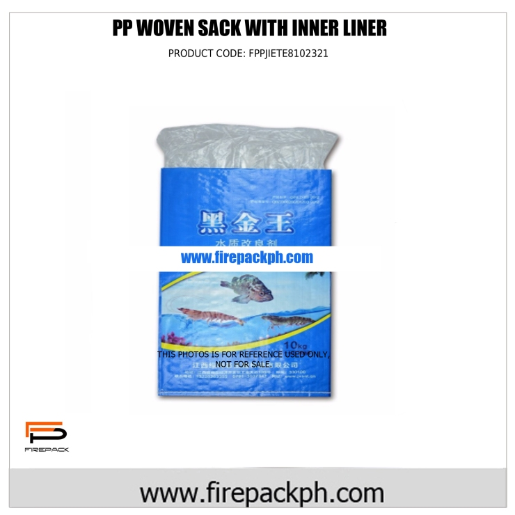 pp woven sack with inner liner sacker maker cebu