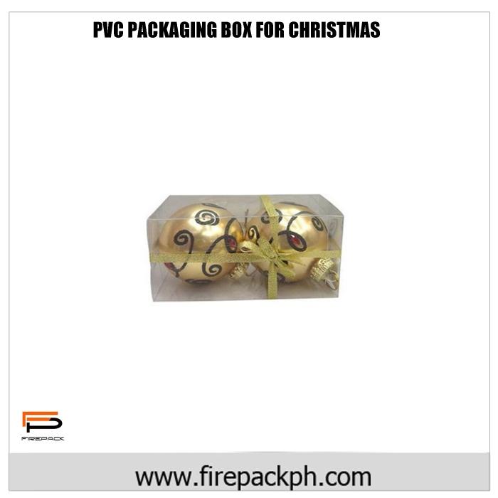 PVC packaging box for christmas balls