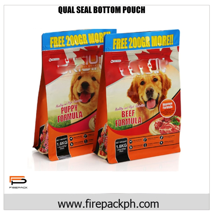 QUAL SEAL BOTTOM POUCH DESIGN FOR DOG