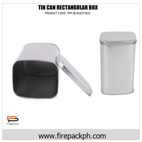 rectangular tin box aluminum