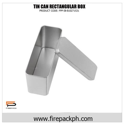 rectangular tin box CAN