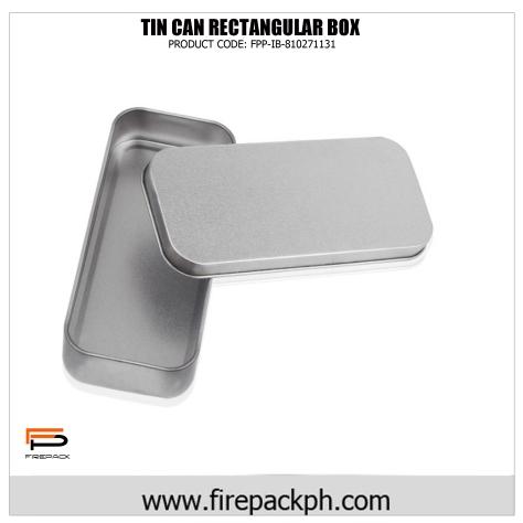 rectangular tin box curved