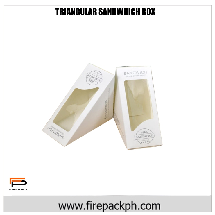 sandwhich box tiangle window