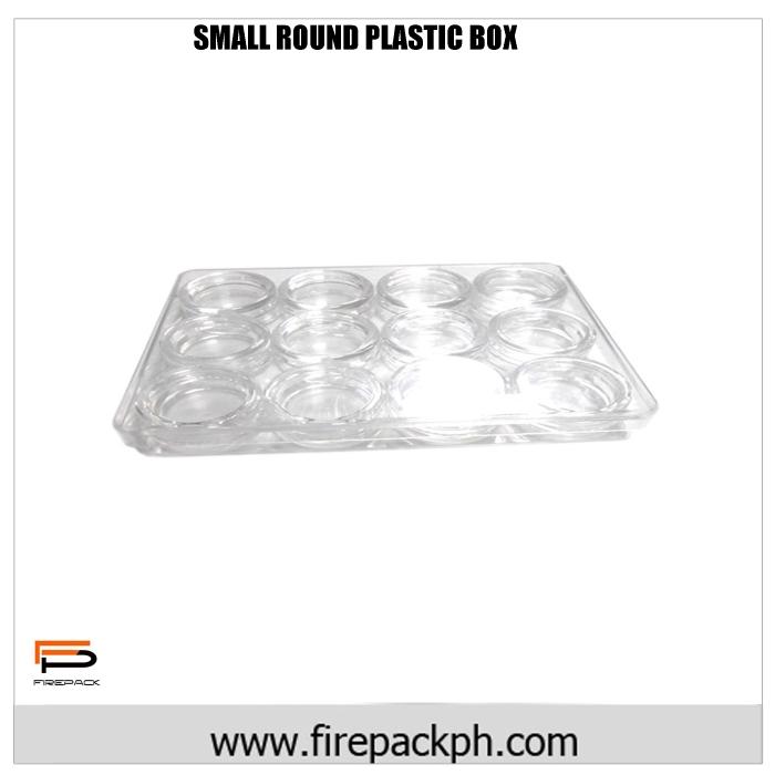 small round plastic box