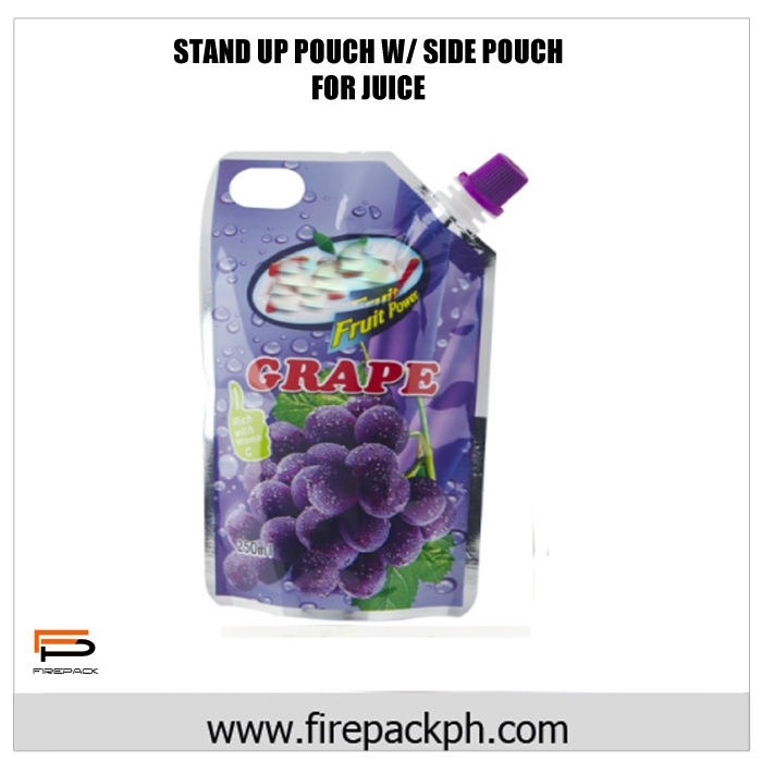 stand up pouch with spout for juice