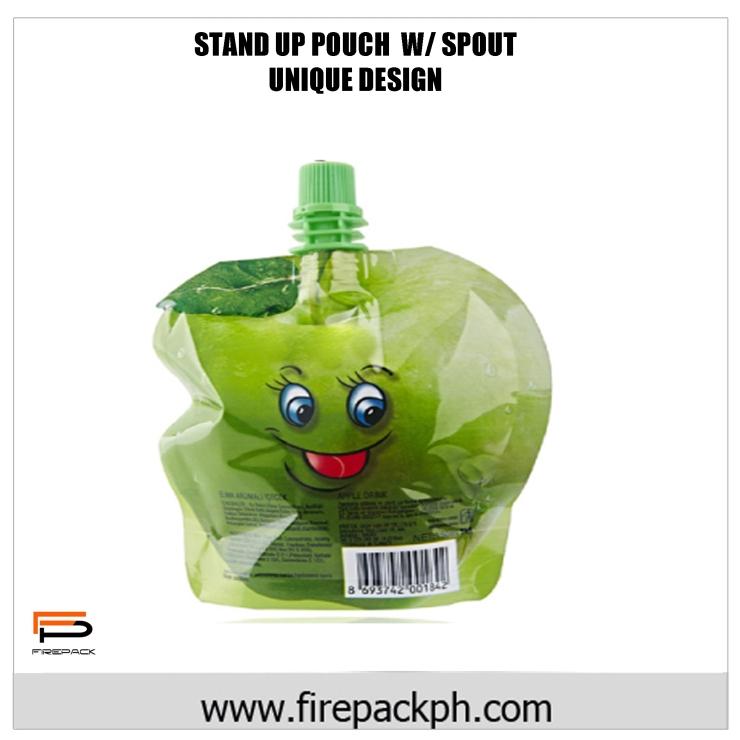 stand up pouch with spout unique design juice