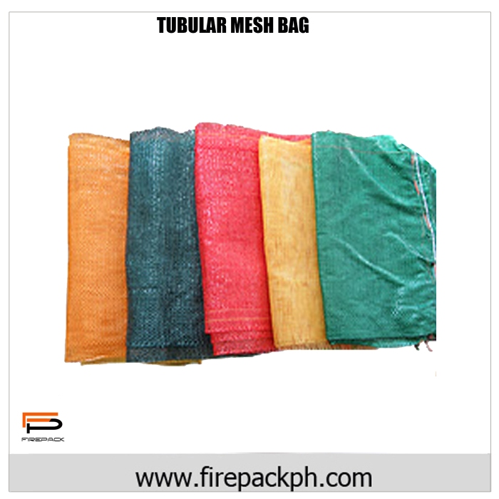 tubular mesh bag green customized supplier