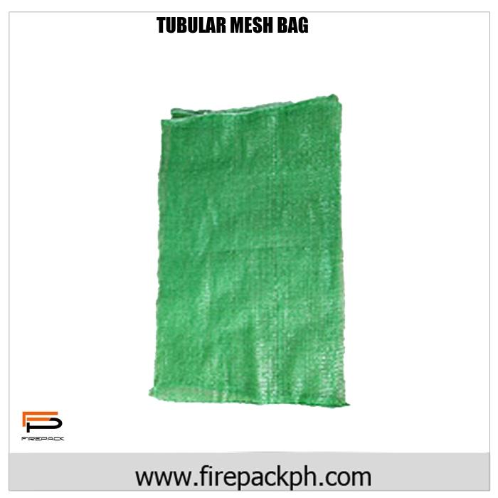 tubular mesh bag green customized