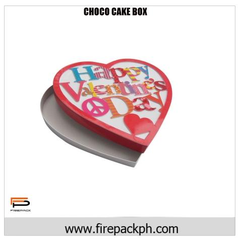 valentines cake box carton
