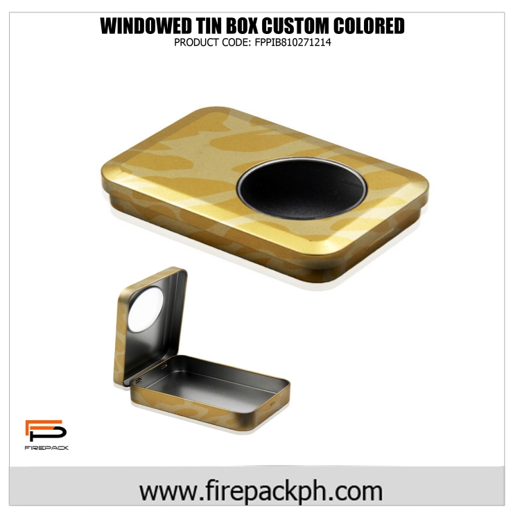 windowed tin box customized