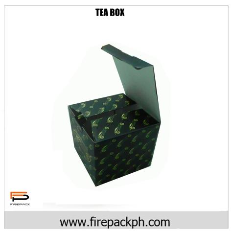 color tea box customized