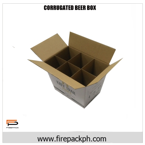 corrugated box for beer carton