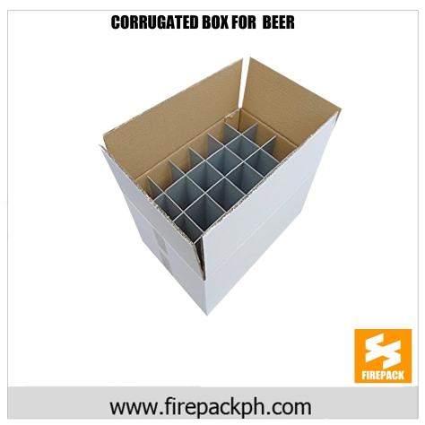 corrugated box for beer maker cebu