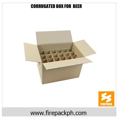 corrugated box for beer maker