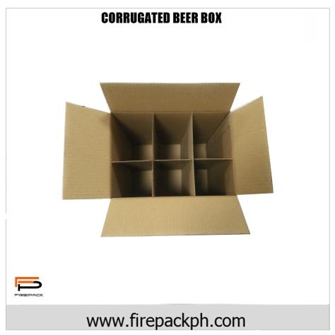 corrugated box top view