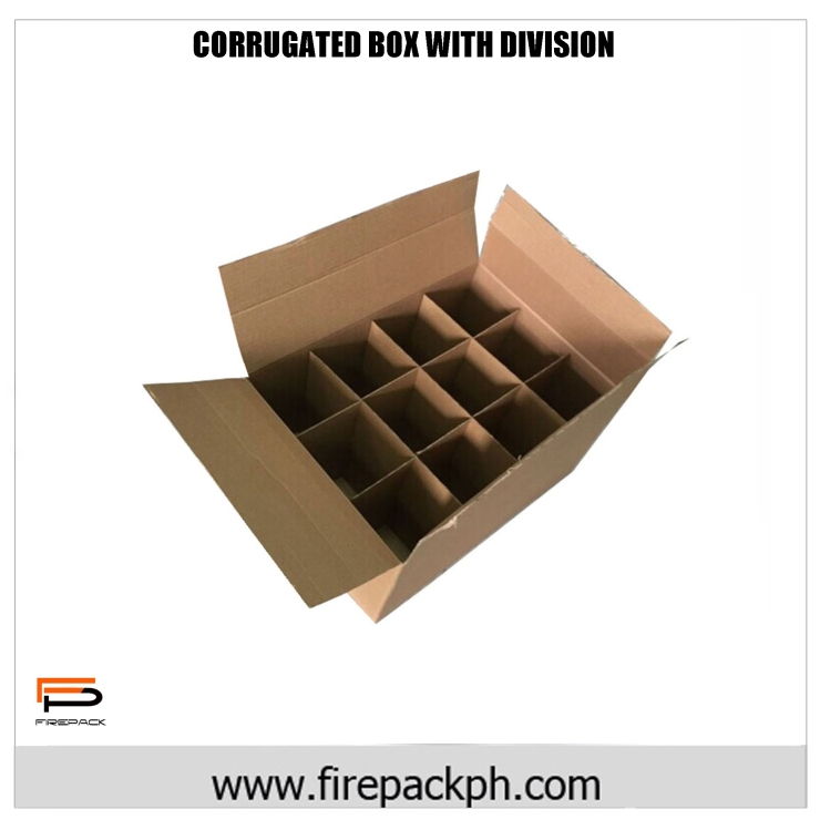 CORRUGATED BOX WITH DIVISION